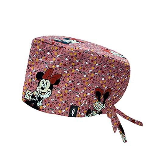 ROBIN HAT - Cuffie da sala Operatoria PINK PRETTY CAPELLI LUNGHI con sistema di bloccaggio della mascherina alla cuffia - 100% cotone (Autoclave) - Massima comodità