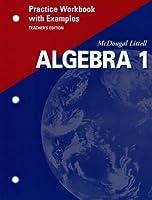 McDougal Littell High School Math: Practice Workbook with Examples (Teachers Edition) Algebra 1 0618043306 Book Cover
