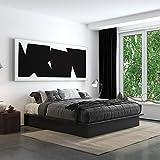 DHP Maven Platform, King Size Frame, Black Upholstered Beds,