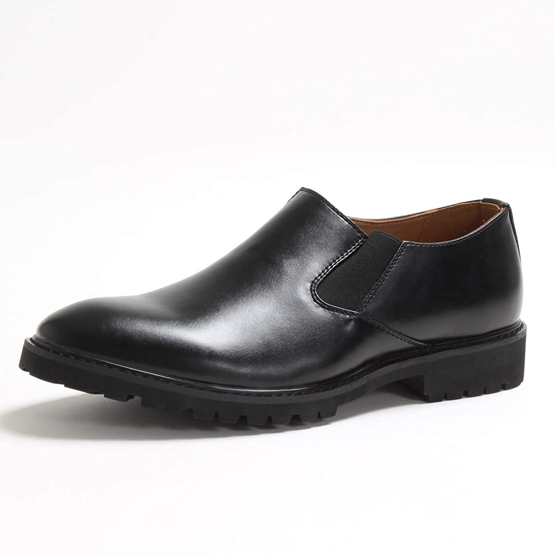 [シュベック] スリッポンシューズ サイドゴア メンズ カジュアル タンクソール コマンドソール 春靴 【 SPT923-5-CPZ 】