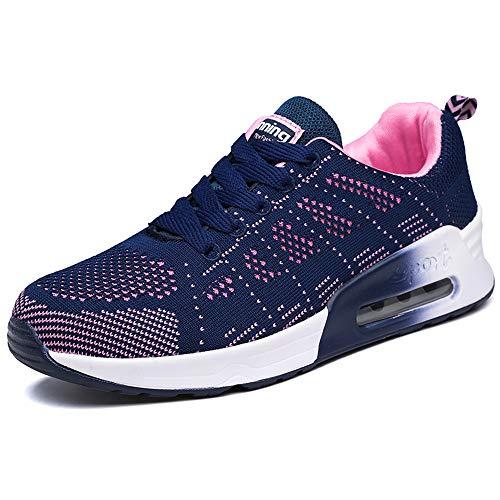 XPERSISTENCE Laufschuhe Damen AIR Straßenlaufschuhe Atmungsaktiv Bequem Turnschuhe Mode Freizeitschuhe Blau 36 EU