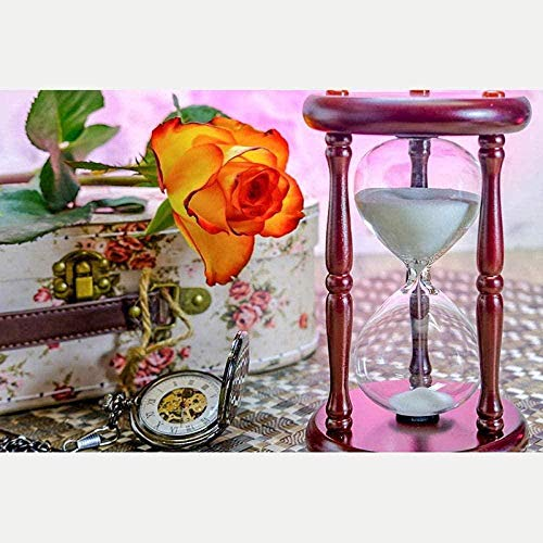 DYYjh Diamond Drawing 5d DIY 5D Diamond Painting Rhinestone Crystal Embroidery Pictures Cross Stitch Art Craft Flower Hourglass Home Decor 40x50cm
