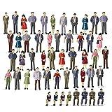 árboles de plástico 50 unids modelo ferrocarril o escala sentado stanidng figuras 1:48 Pintado People Modelo Layo de ferrocarril P50 Ferrocarril Diorama juguetes de construcción de jardín de flores