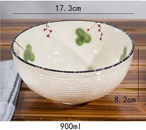 Liuyu Kitchen Home Vaisselle créative en céramique Biscuit à soupe Ramen Bowl Bassin à la poêle à base de cuve à la maison (taille : 8.5 inches)