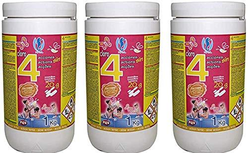 Cloro EN Pastillas 4 ACCIONES 20 Gramos DE 1 KG (Pack DE...