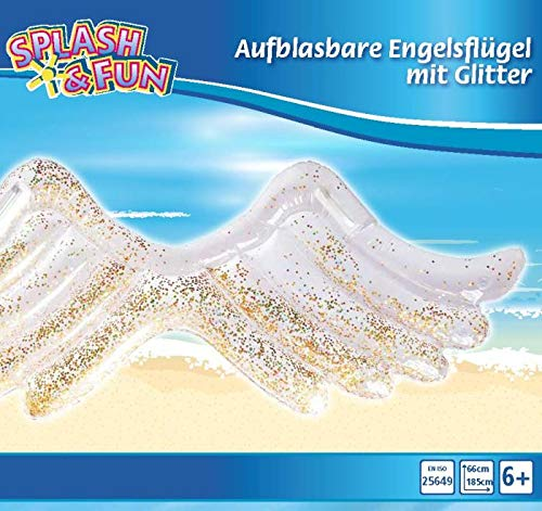 Seasun International Trade Co.Ltd. SF Aufblasbare Engelsflügel mit Glitter, bunt