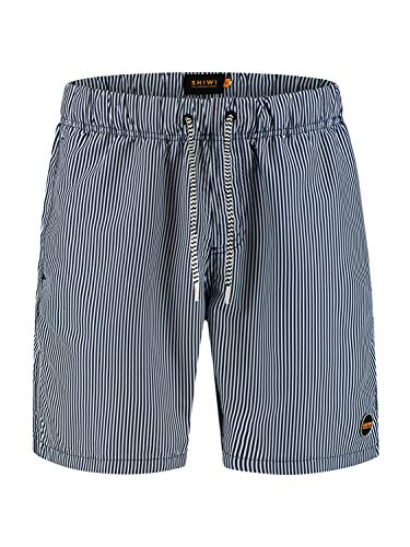 Shiwi Herren Badeshorts Skinny Stripe dunkelblau L