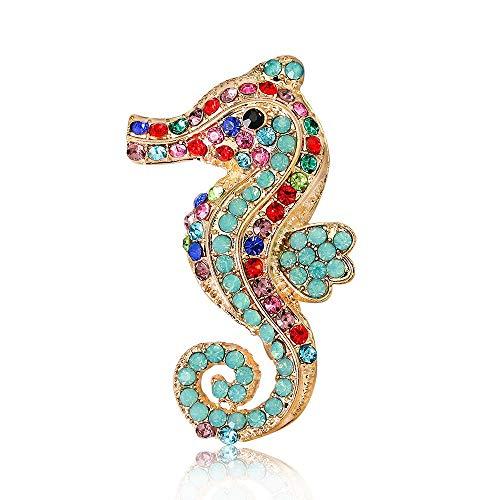 Broche de Moda para Mujer, Moda exquisita de la mujer elegante Seahorse...