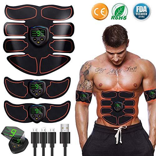 EGEYI EMS Training Muskelstimulator,Muskelstimulation, Elektrisch Gürtel muskelstimulator, Bauchmuskeltrainer Fitness Geräte, Wiederaufladbare Muskeln Trainer Für Männer Frauen Gewicht Abnehmen