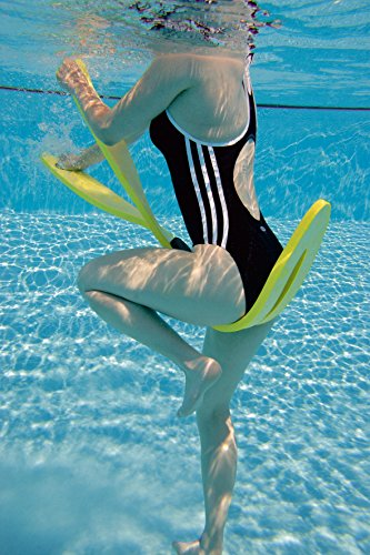 Sport-Thieme Aqua-Crosstrainer | Neuartiges Fitnessgerät für Aqua-Fitness, Aqua-Gymnastik, Aqua-Jogging | Für Flach- und Tiefwasser | Bis 90 kg | Flexibler Schaumstoff | 130x20x2 cm | Gelb