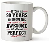 90th Birthday Gifts For Women Ninety Years Old Men Mugs Happy Funny 90 Mens Womens Womans Wifes Female Man Best Friend 1931 Mug Male Unique Ideas 30 Woman Wife Gag Dad Girls Guys Good Husband