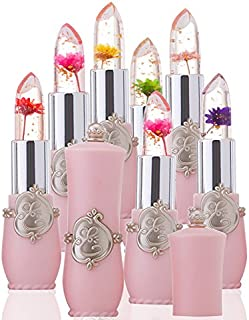 Ywoow Beauty Bright Flower Crystal Jelly Lipstick Magic Temperature Change Color Lip US Warehouse Sending