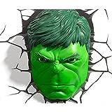 Jessecos Marvel Avengers HULK Head Gesicht Kopf 3D Deco Wandlampe Nachtleuchte