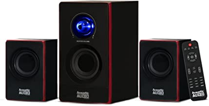 Best Acoustic Audio by Goldwood 2.1 Bluetooth Speaker System 2.1-Channel Home Theater Speaker System, Black (AA2103) Review