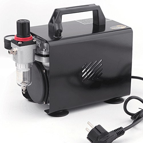 Fengda AS-18A - Professional Airbrush mini-compressor / 4 bar/compact met manometer, drukregelaar