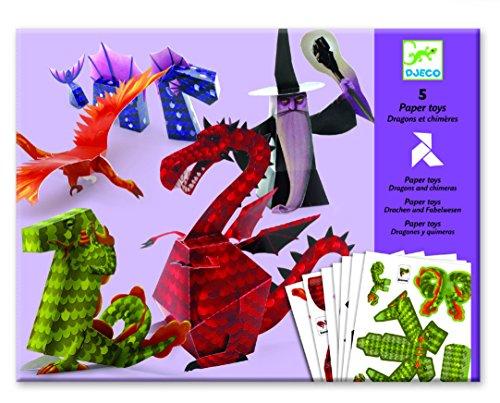 Drachen und Chimären Papier Spielzeug Djeco