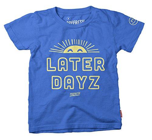 Prefresh Boys Cotton Short Sleeve Tee - Blue - Later Dayz - 12-18M