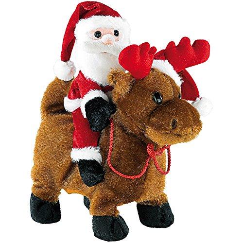 Playtastic Weihnachts: Weihnachtsmann Salto Claus mit Rentier (Weihnachtsmann mit Musik)