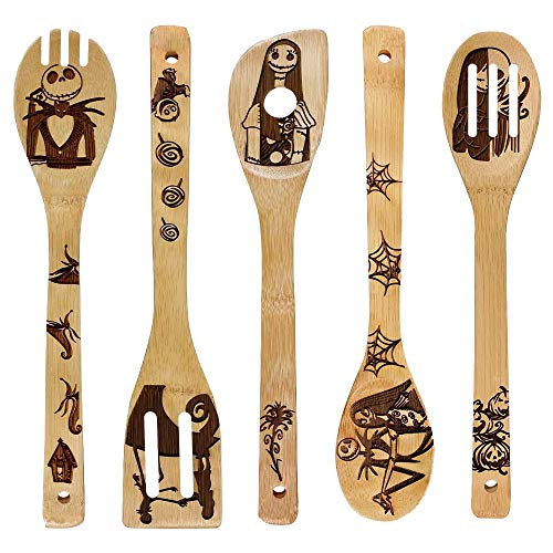 Unique Pattern Burned Wooden Spoons
