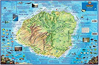 Kauai Dive & Snorkeling Map Laminated Poster