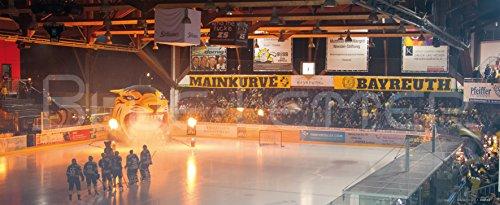 Blue-Letter Bayreuth Eishockey Intro - hochwertiger FineArtPrint (240 cm x 100 cm)