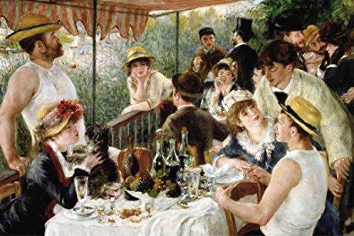 1art1 Pierre Auguste Renoir - Das Frühstück Der Ruderer, 1880-1881 Selbstklebende Fototapete Poster-Tapete 180 x 120 cm