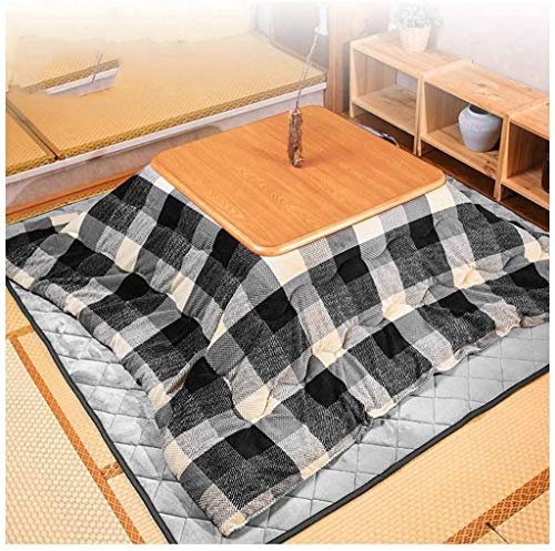 DJRH. Home Heizgeräte Tatami Tröster Japanischer Kotatsu-Tisch mit Heizung und Decke, Tatami Futon-Kaffee-Teetisch Holzplatz Groß für Wohnzimmer-Set