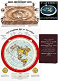 "Flat Earth Maps SET OF 2 MAPS- Flat Earth Map - 24"" x 36"" Gleason's New Standard Map Of The World 