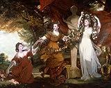 Kunstdruck Three Ladies Adorning a Term of Hymen Joshua Reynolds B A3 02722