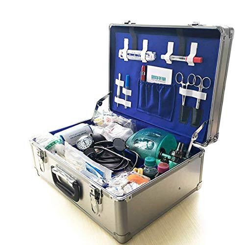 GOXJNG Medizin Box Set Tragbare Medizin Boxen Container Durable Erste-Hilfe-Kit Medical Lagerung Kit Abschließbare Aluminiumlegierung Ideal for Auto Camping Reisebüro Startseite (Size : B)