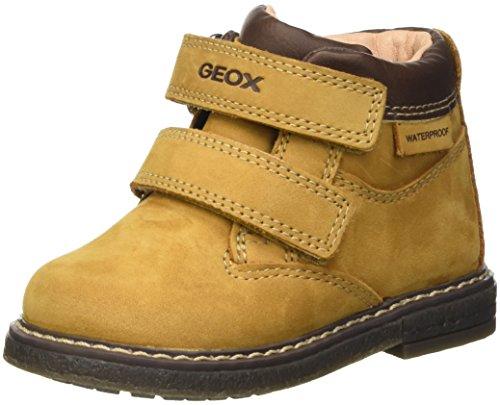 Geox Baby-Jungen B GLIMMER BOY WPF A Lauflernschuhe, Gelb (BISCUIT/DK BROWNC5B6R), 25 EU