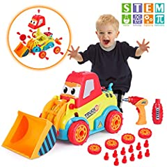 Unique take apart toys for boys and girls-- most children have a dream of becoming an engineer. The take apart car will satisfy their desire. Spend several hours to build their own truck. Increase their confidence and sense of accomplishment. The bes...