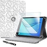 Karylax - Juego de funda de protección para Archos Oxygen 101 4G (incluye protector de pantalla de cristal flexible y lápiz capacitivo), color blanco