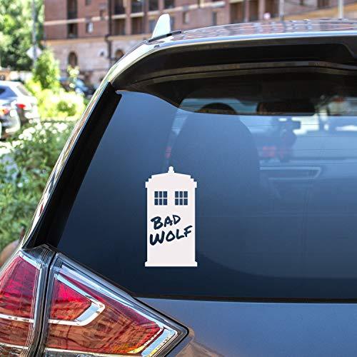 TAMENGI Bad Wolf Tardis. Bad Wolf, Doctor Who Inspired, Tardis. Vinilo adhesivo para ordenador portátil, calcomanía de coche, 7 pulgadas