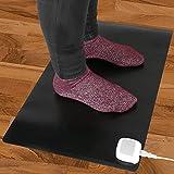 PrimeMatik – Heizteppich Thermisches Heizmatte Beheizter Teppich Pad-Schreibtisch 60x36cm 65W schwarz - 6