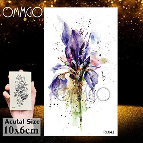 5Pcs- Buddha Lotus - Blatt - Flora - Tätowierung - Aufkleber Mode wasserdicht Blumen - Tattoo Art Tatoos Makeup-In Tattoo On Ork041