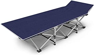 Folding Camping Bed for Hospital Accompanying/Outdoor Camp, Portable Sleeping Cot for Adults & Kids Up to 440 Lbs
