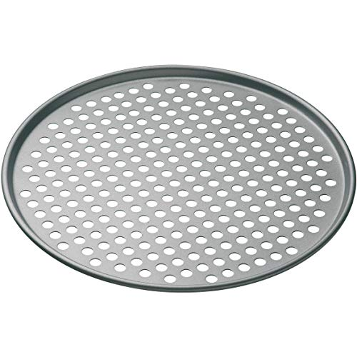 KitchenCraft MasterClass Non Stick Pizza Crisper Tray for Oven, 32 cm