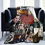 AIMOM Chris Evans Blanket Soft Cozy Throw Blanket Flannel Blankets for Couch Bed Living Room 40 X 50 Inch