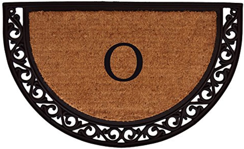Home & More 100102436O Ornate Scroll Monogram Doormat 2-Feet X 3-Feet (Letter O)