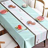 SUNFDD Tovaglia da Conferenza in PVC Impermeabile, Antiolio E AntiGraffio, Tavolino da caffè, Tavolo da Pranzo, Tovaglia Rettangolare, Tavolo da Pranzo, Home Office 100x160cm(WxH) B
