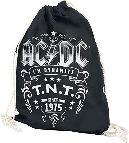 AC/DC T.N.T. Unisex Turnbeutel schwarz 100% Baumwolle Band-Merch, Bands