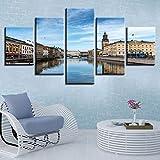 MWTWM Leinwand Malerei Wandkunst Rahmen 5 Stück Schweden