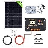 ECO-WORTHY Kit pannello solare 120W 12V: pannello solare mono 120W e regolatore di carica solare 20A...
