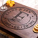 Personalized Wedding Anniversary Cutting Board, Handmade Cutting Board - Personalized Gifts - Wedding Gifts for the Couple, Engagement Gifts, Gift for Parents
