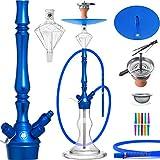 DILAW® Granat Shisha Set Hookah 93cm Aluminium Alu | Wasserpfeife Kaminkopf Komplettset...
