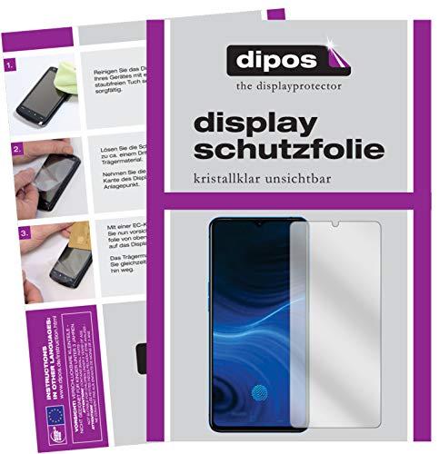 dipos I 6X Schutzfolie klar kompatibel mit Oppo Realme X2 Pro Folie Bildschirmschutzfolie (bewusst Kleiner als das Glas, da Dieses gewölbt ist)