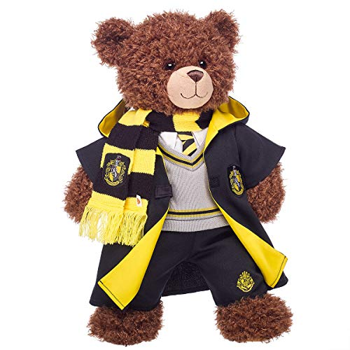 Build A Bear Workshop Harry Potter Bear with Hufflepuff House Robe, Scarf & Hogwarts Pants, 16 Inches