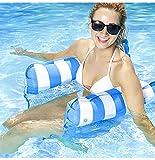 Cama flotante de agua Hamaca para salón hamaca de agua hinchable tumbona para mar o piscina