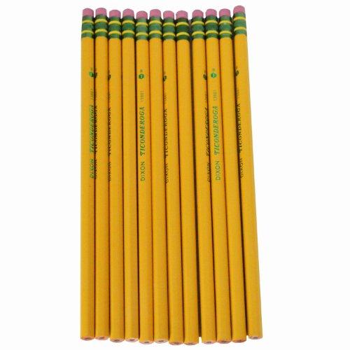 Dixon Ticonderoga Company Ticonderoga Pencil, with Eraser, No 1, Extra Soft, Yellow (DIX13881)